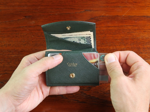ハンモックウォレットコンパクト カード取り出しやすい