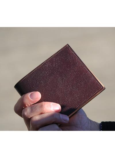 NAGATANIオリジナル型押し加工されたコードバンお財布WSTO-05/WHISKEY
