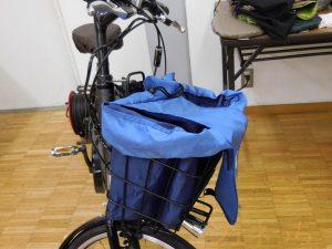 自転車かごに入れても便利なレジカゴリュック