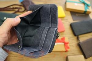 ハレルヤ ミニ財布 三つ折りコンパクト お札入れるところ