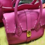 カラーセレクトオーダーのバッグ シュリンクレザーハンドバッグ