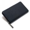 SAHO 限定色ブラック×ブラック 本革ラウンドファスナー長財布