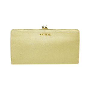 ヘアカーフ「アリュール」長財布 がま口 フリージア 黄色の長財布です。