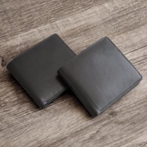 二つ折り財布メンズ本革レザー