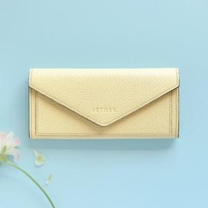 エクラ レター型長財布 フリージアイエロー